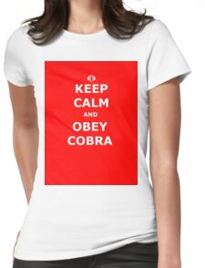 Keep Calm and Obey Cobra sticker alternative Womens Fitted T-Shirt