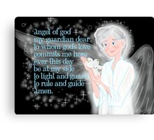 Pray To Your Guardian Angel Canvas Print