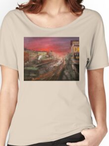 City - NY - Rush hour traffic - 1900 Women's Relaxed Fit T-Shirt