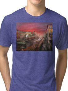 City - NY - Rush hour traffic - 1900 Tri-blend T-Shirt