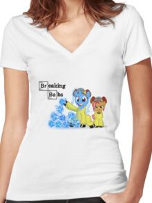 Breaking Babs  Women's Fitted V-Neck T-Shirt