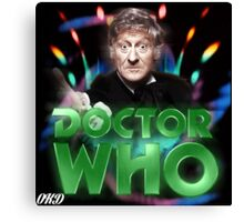 Doctor Who 50th Anniversary - Third Doctor Canvas Print