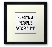 Scare Me Framed Print