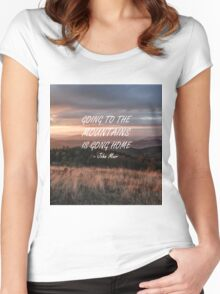 Going to the mountains 6 Women's Fitted Scoop T-Shirt