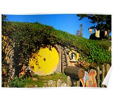 Sam and Rosie's home - Hobbiton, New Zealand Poster