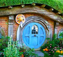 Hobbit hole - Hobbiton, New Zealand by Nicola Barnard