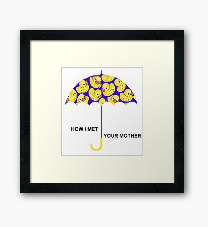 How I Met Your Mother. Framed Print
