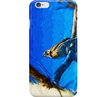 Singing Song Sparrow 2 Abstract Impressionism iPhone Case/Skin