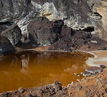 acidic waters in pyrite smelting landfill by Pablo Romero