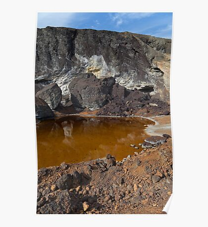 acidic waters in pyrite smelting landfill Poster