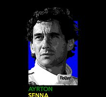 Ayrton Senna - national flag colors by TheGearbox