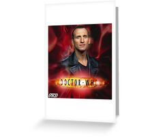 Doctor Who 50th Anniversary - Ninth Doctor Greeting Card