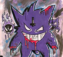Gengar (dark twist) by StuffHobo