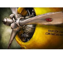 Plane - Pilot - Prop - Twin Wasp Photographic Print