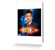 Doctor Who 50th Anniversary - Tenth Doctor Greeting Card
