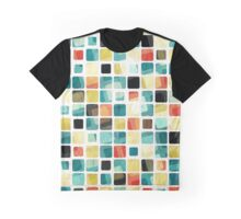 Textured Colorful Cubes Graphic T-Shirt