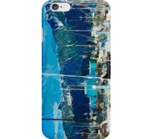 Seward Harbor Alaska Abstract Impressionism 2 iPhone Case/Skin