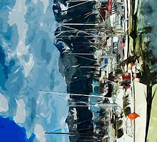 Seward Harbor Alaska Abstract Impressionism 3 by pjwuebker