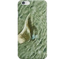 Sea Shell in Moving Water Abstract Impressionism iPhone Case/Skin