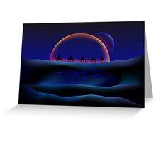 Alien moonlight Greeting Card