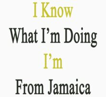 I Know What I'm Doing I'm From Jamaica  by supernova23