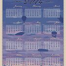 2014 Airship Single Sheet Calendar by phantomssiren