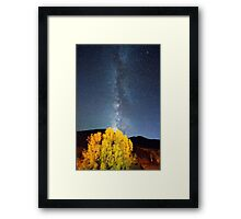 Milky Way October Sky Framed Print