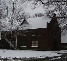 First Presbyterian Church In Snow by WildestArt