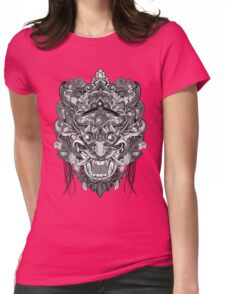 Mask Black & White Womens Fitted T-Shirt
