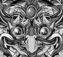 Mask Black & White Sticker