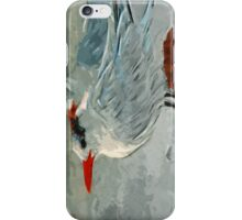Royal Tern in Winter Colors Abstract Impressionism iPhone Case/Skin