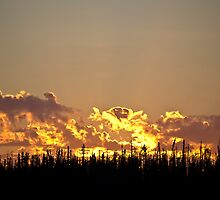 Fire in the Sky - Saskatchewan by RobertCharles