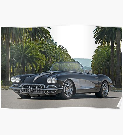1958 Corvette 'Retro' Roadster Poster