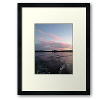 Leaving Pink - Saskatchewan Framed Print
