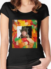 Dr Who ..would you care for a jelly baby? Women's Fitted Scoop T-Shirt