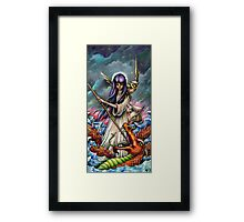 Woman Slaying a Sea Serpent Framed Print