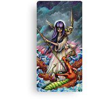 Woman Slaying a Sea Serpent Canvas Print