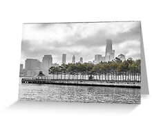 Hoboken Pier Colorized Greeting Card
