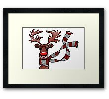 rudolph the red nosed reindeer Framed Print