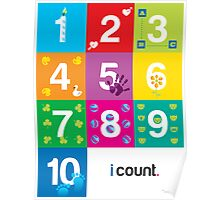 Numbers Education Poster for Kindergarten Classes Poster
