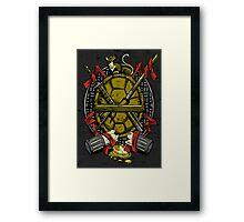 Turtle Family Crest Framed Print