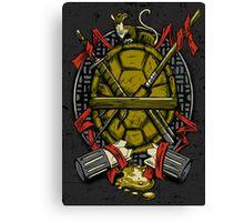 Turtle Family Crest Canvas Print