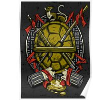Turtle Family Crest Poster