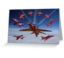 The RAF Red Arrows Greeting Card