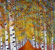 Birch trees by maggie326