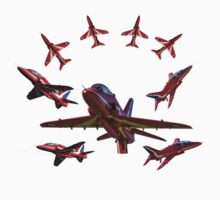 The RAF Red Arrows by AviationPrints