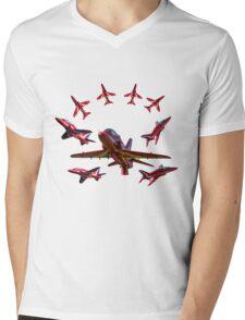 The RAF Red Arrows Mens V-Neck T-Shirt