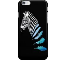 Zebra Floating into Feathers iPhone Case/Skin