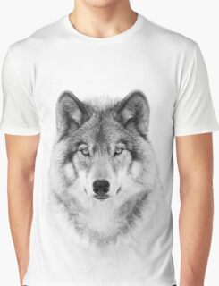 Timber Wolf in B&W Graphic T-Shirt