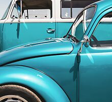 Two Turquoise VWs by studiojanney